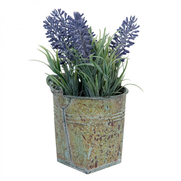Kunstblume Lavendel im Topf 17 cm