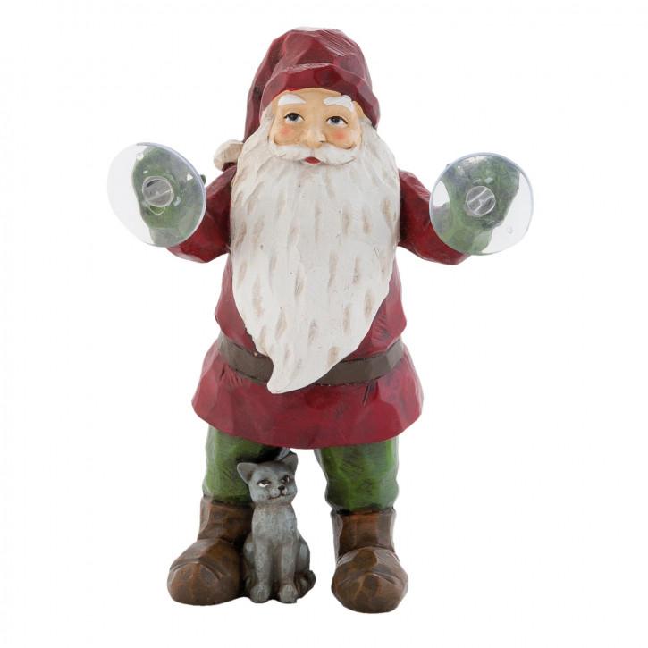 Fensterdeko mit Saugnapf Weihnachtsmann klein