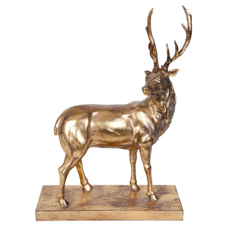 Figur Hirsch goldfarbig ca. 26 x 9 x 33 cm