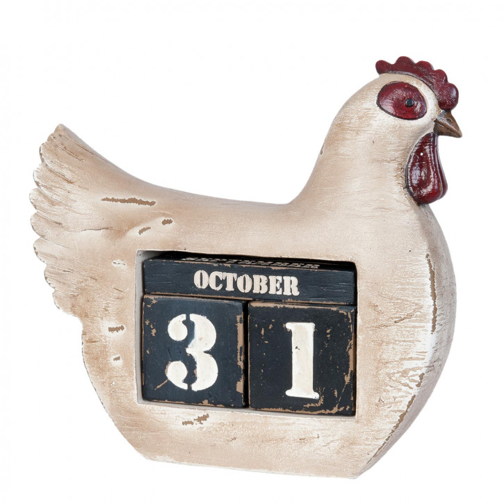 Dauerkalender Huhn ca. 24 x 8 x 22 cm