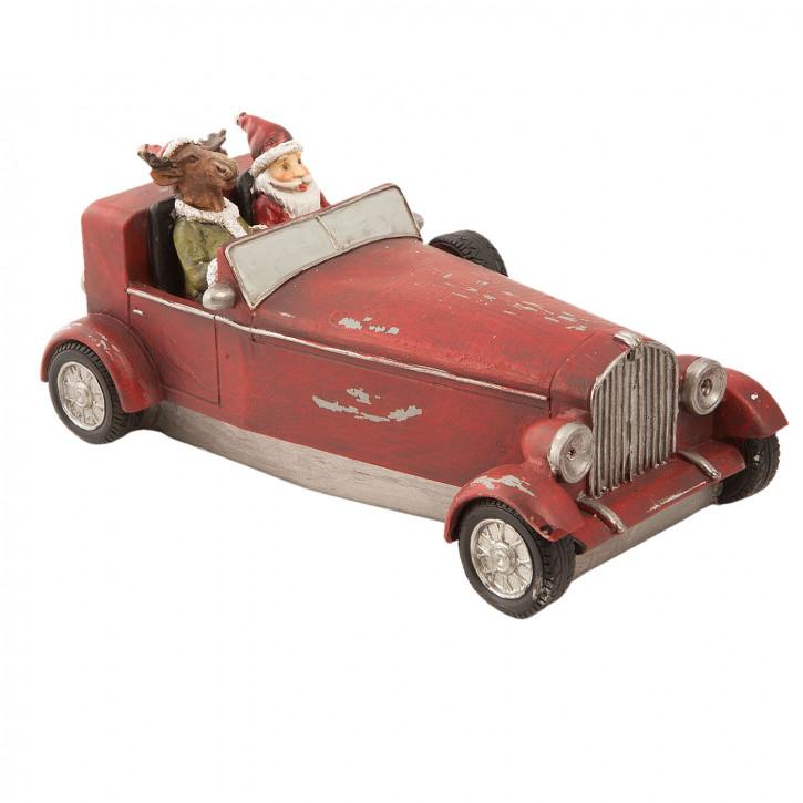 Weihnachtsmann im Auto 18x9x9 cm