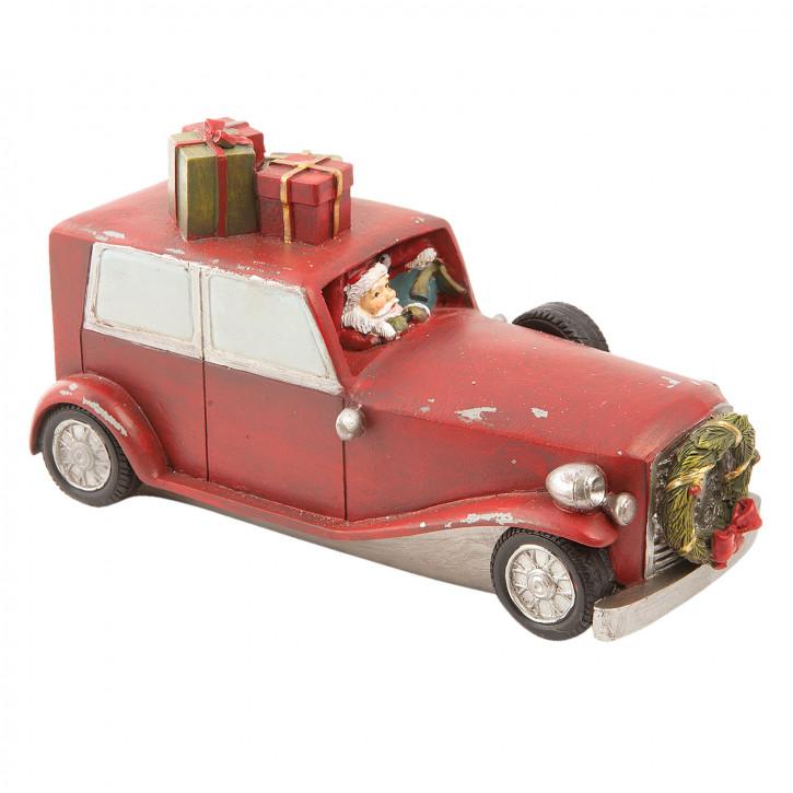 Weihnachtsmann im Auto 19x8x10 cm
