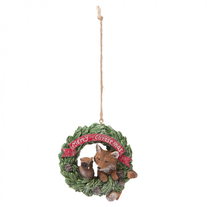 Hängedekoration squirrel 8x5x9 cm