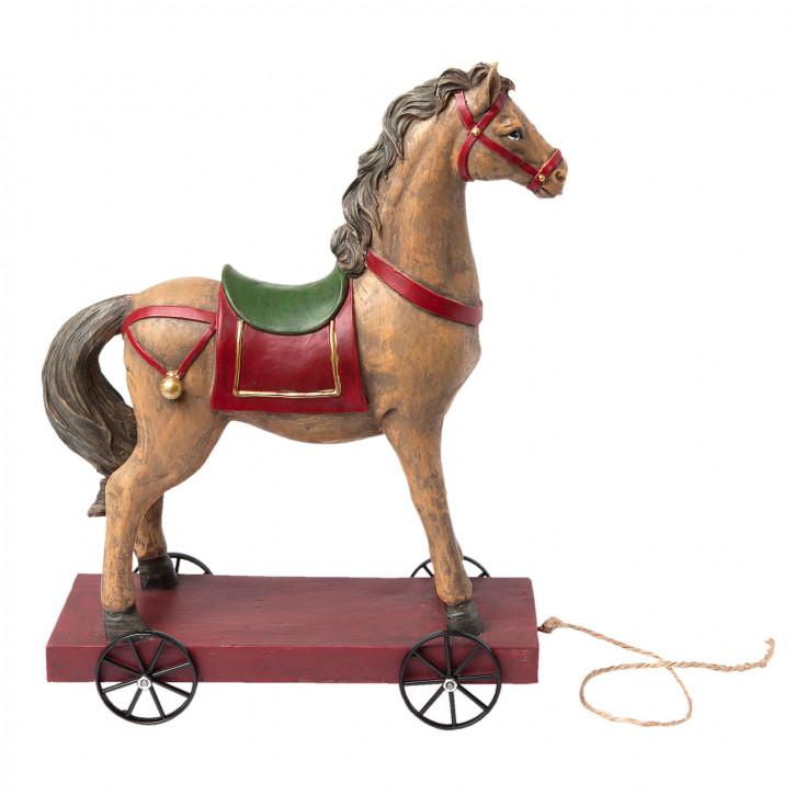 Pferd auf Rädern 22x10x30 cm