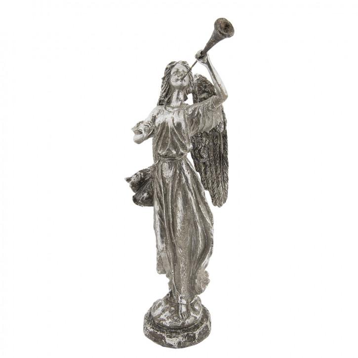 Engel mit Trompete 18x13x38 cm