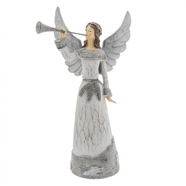 Engel mit Trompete 19x13x36 cm