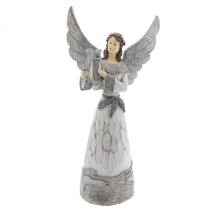 Engel mit Harfe 18x11x36 cm