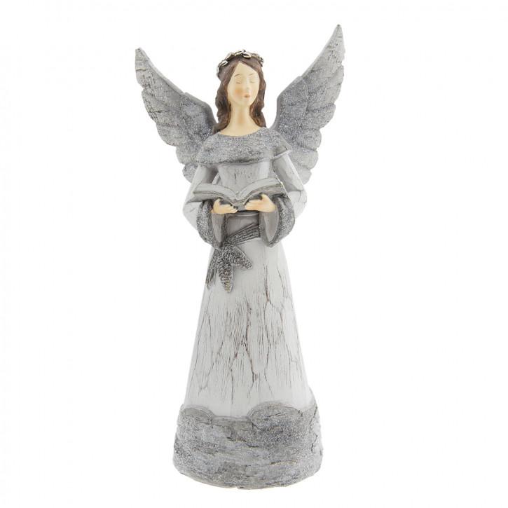 Engel mit Buch 15x11x29 cm