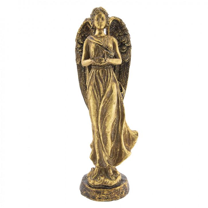 Engel mit Vogel 18x15x41 cm