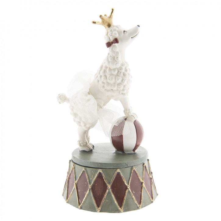 Dekoration Hund 9x9x15 cm