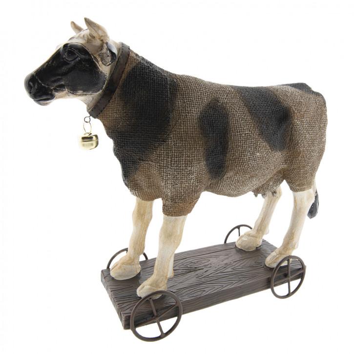 Kuh auf Rädern 31x10x28 cm