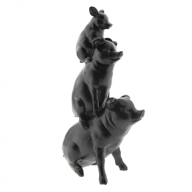 Dekoration Schweinen 14x8x25 cm