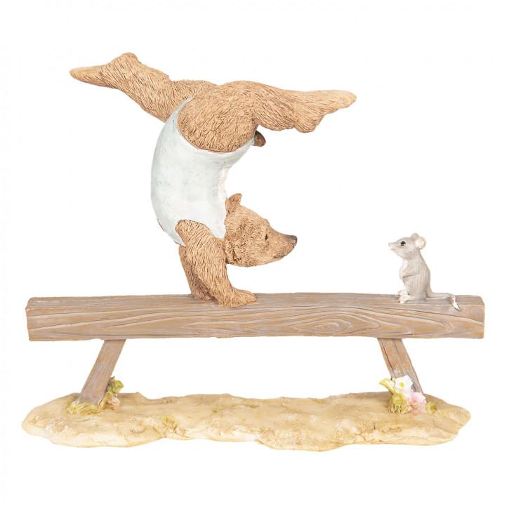 Dekoration Bär Gymnastik 18x6x15 cm