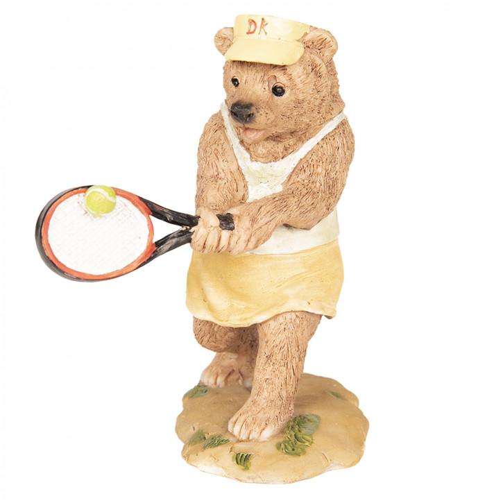Dekoration Bär Tennis 8x7x11 cm