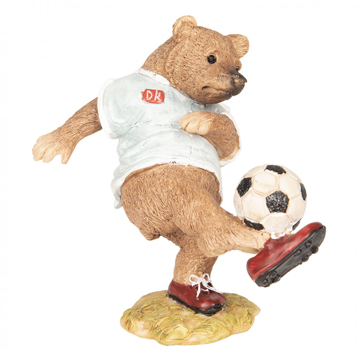 Dekoration Bär Fußball 10x6x10 cm