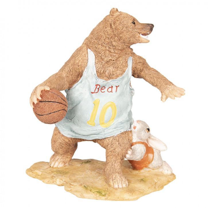 Dekoration Bär Basketball 14x11x15 cm