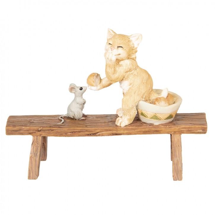 Dekoration Katze und Maus 12x5x9 cm