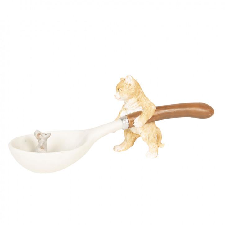 Dekoration Katze und Maus 17x6x7 cm