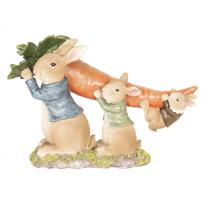 Kaninchen mit Karotte 24x8x16 cm