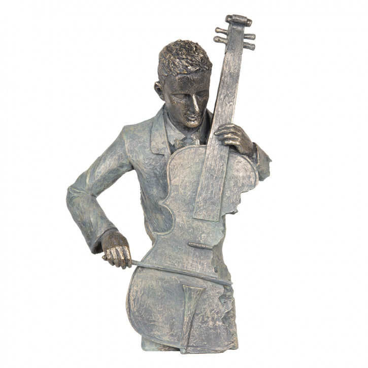 Dekoration Cellist 29x13x46 cm