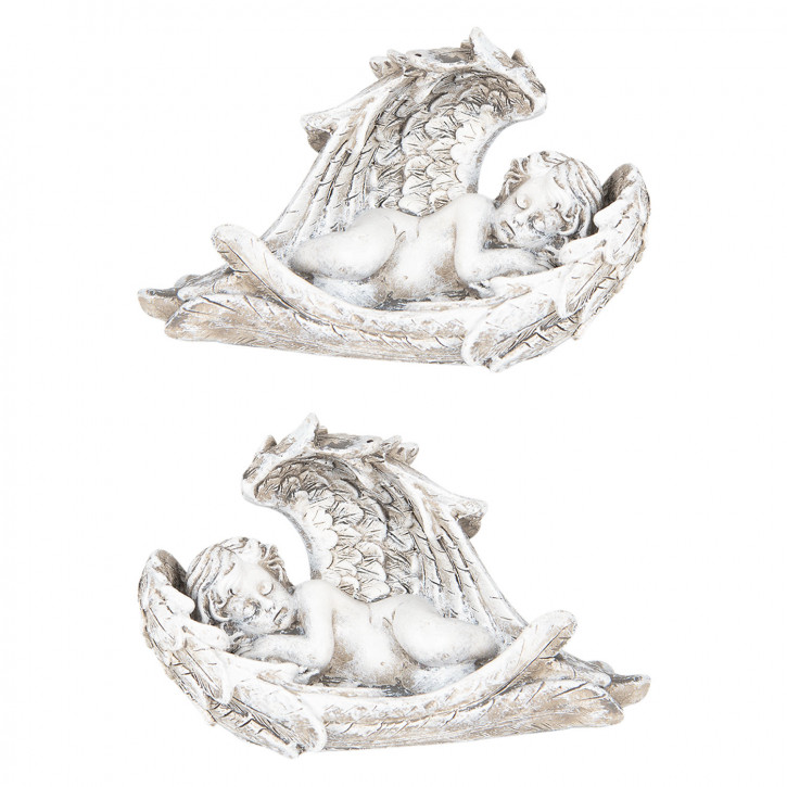 Dekoration Engel (2) 14x7x9 cm