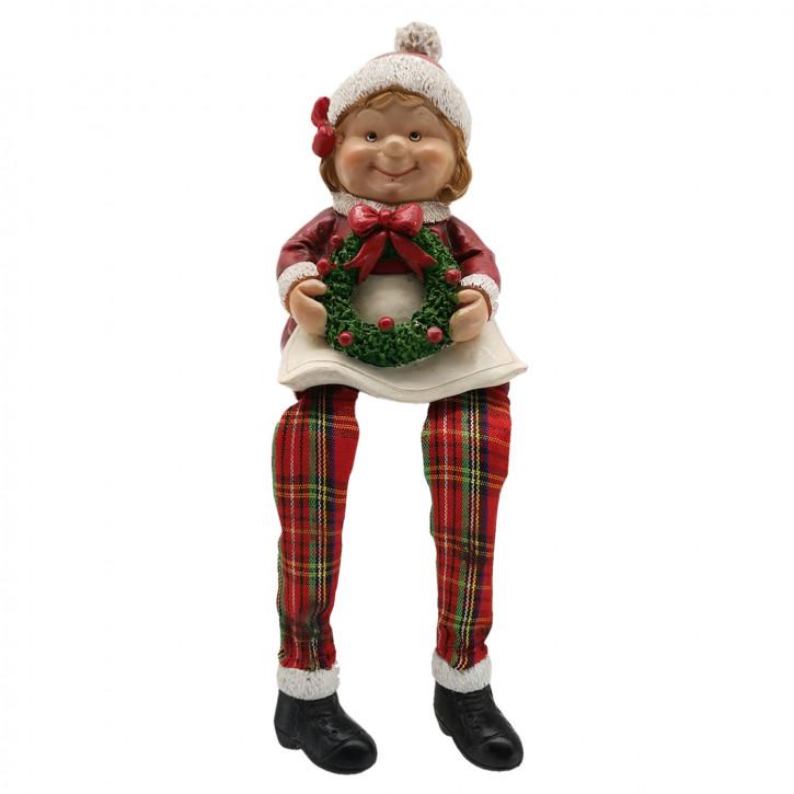 Weihnachtsfrau 7x6x10 cm