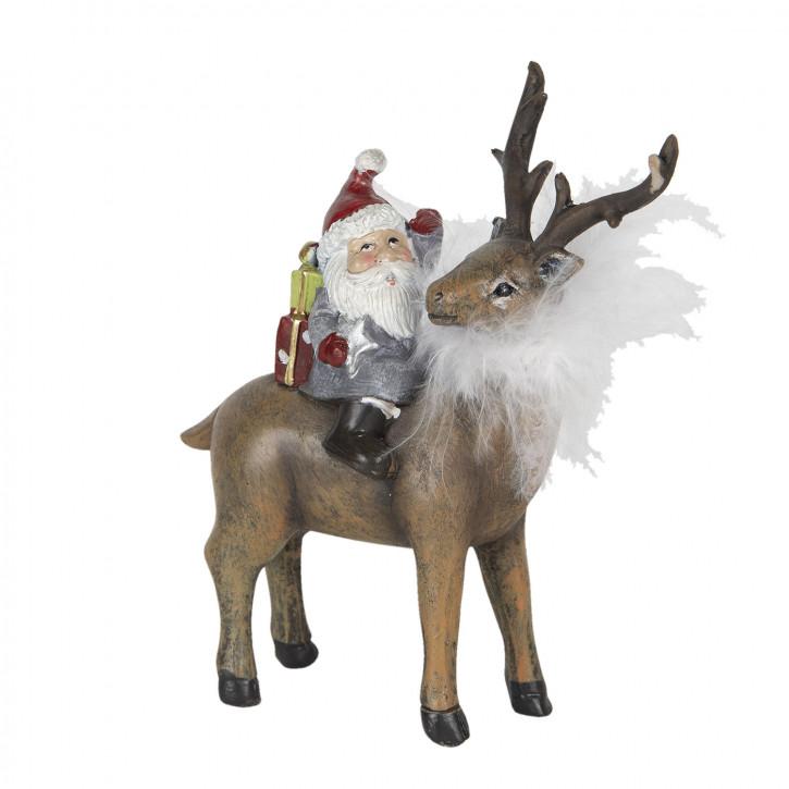 Dekoration Weihnachtsmann 12x5x13 cm