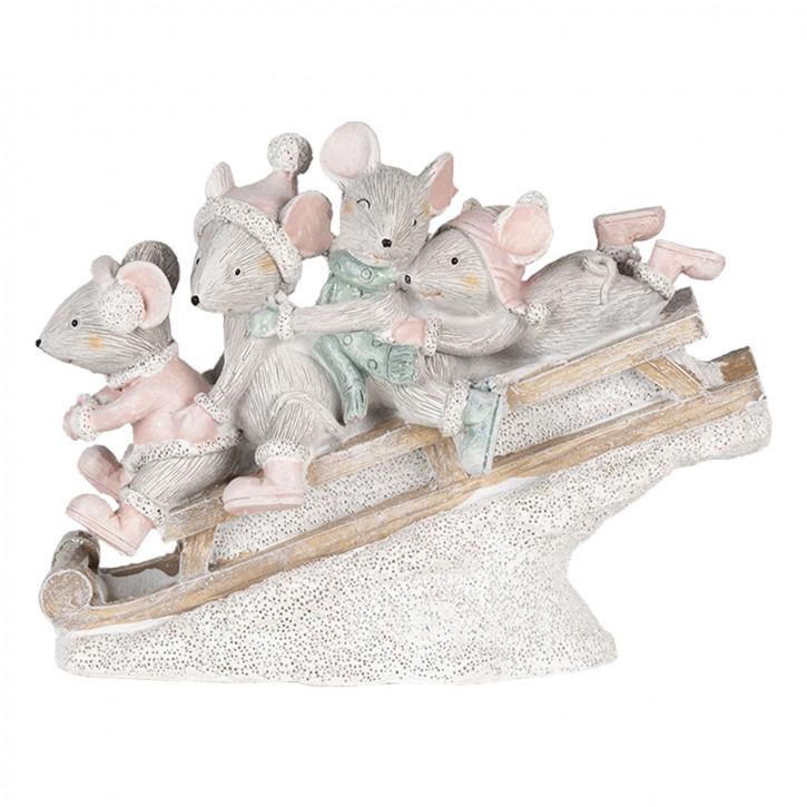 Dekoration Mäuse» 15x5x11 cm