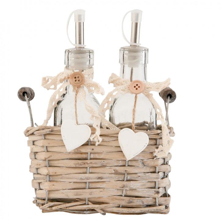 Bottle holder with 2 bottles 18x8x16 cm