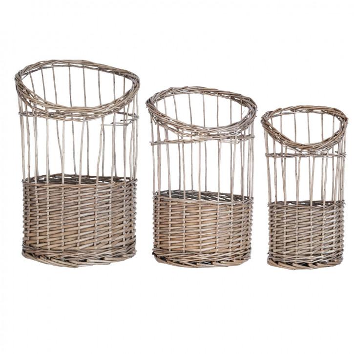 Baskets (3) Ø 31x45/Ø 26x39/Ø 22x35 cm