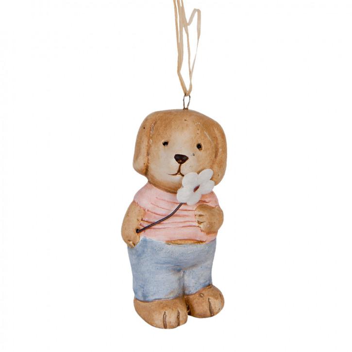 Dekofigur Hund 4x3x7 cm
