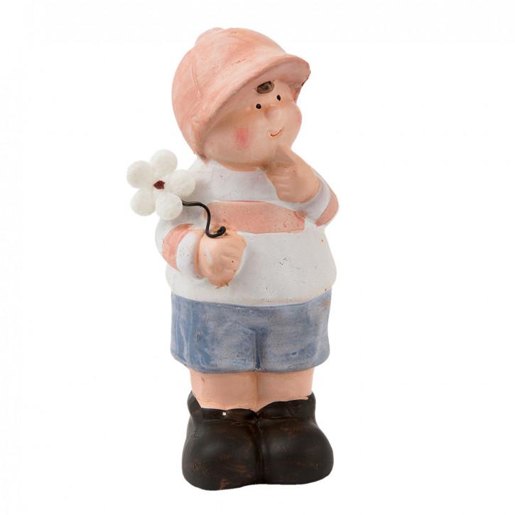 Deko Figur Junge 5x5x12 cm