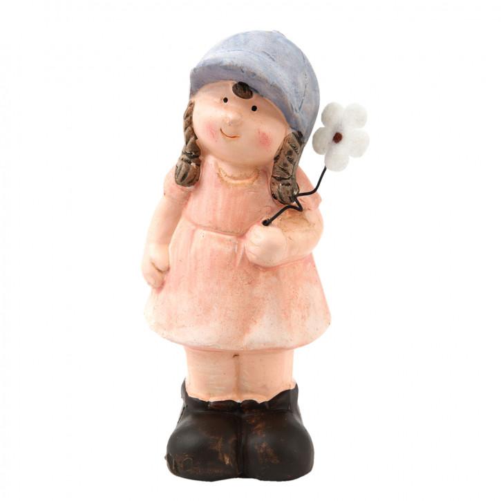 Deko Figur Mädchen 5x5x12 cm