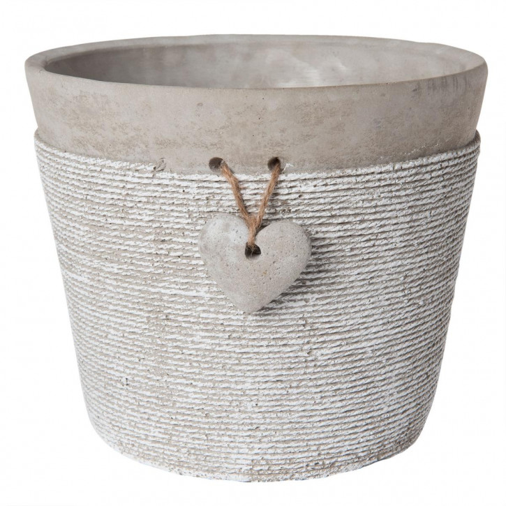 Blumentopf in grau Ø 18x15 cm