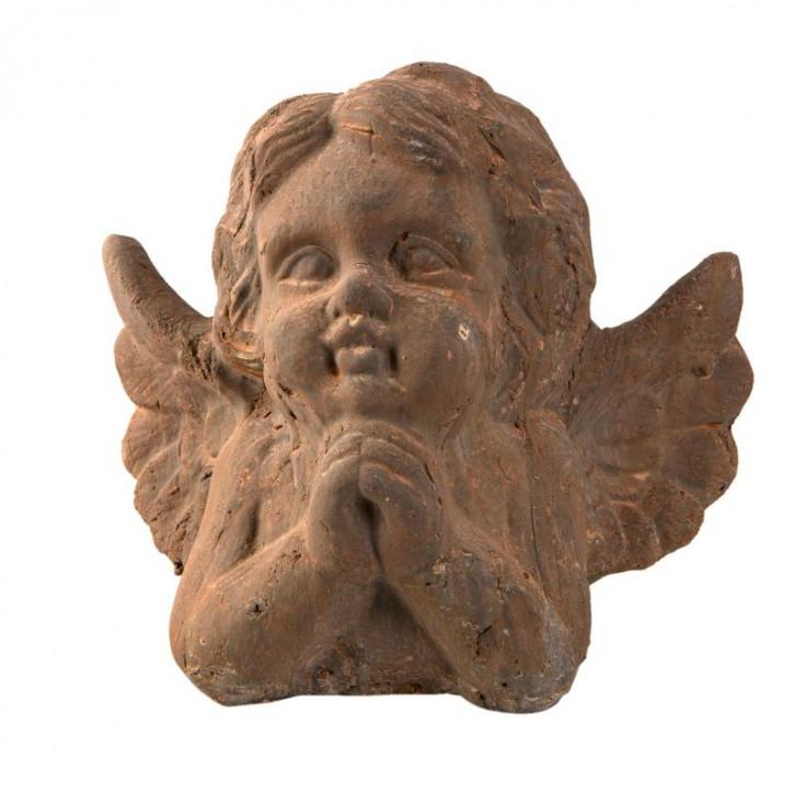 Engel Büste Büstenkopf aus Terrakotta 21x15x19 cm