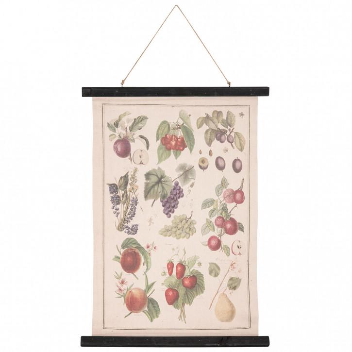 Wandkarte Früchte 55x2x75 cm