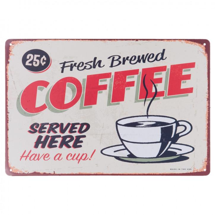 Wandschild Blechschild COFFEE ca. 30 x 20 cm