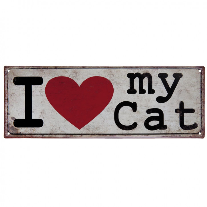 "Textschild ""I love my Cat"""