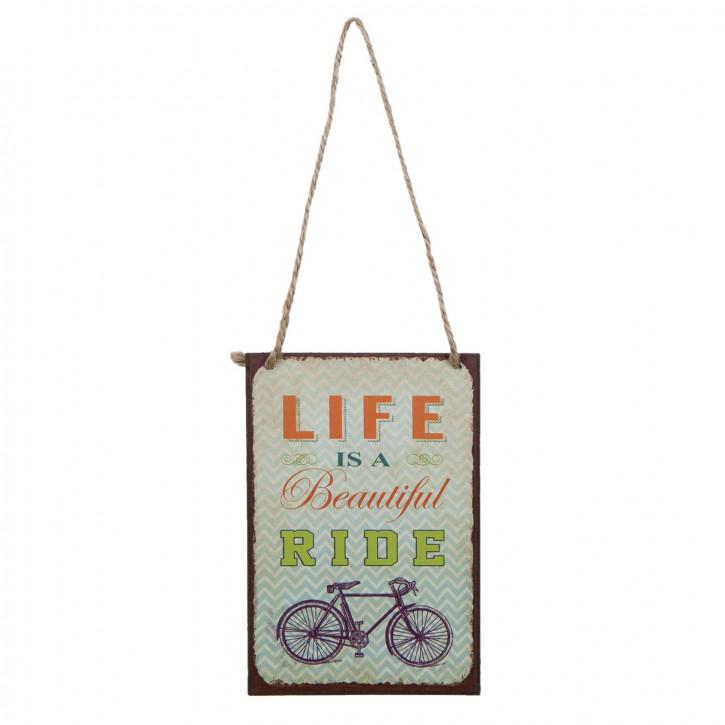 Textschild LIFE is a beautiful RIDE ca. 10 x 15 cm