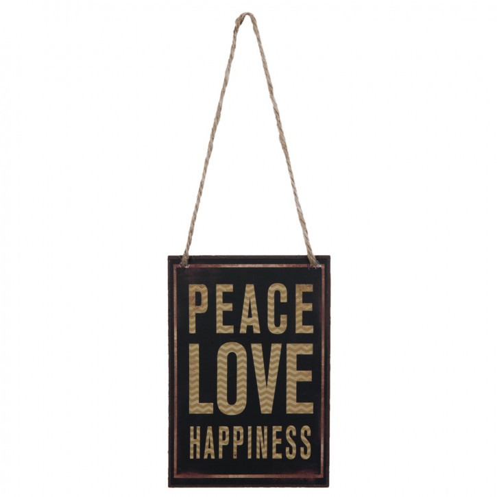 Textschild PEACE LOVE ca. 10 x 15 cm