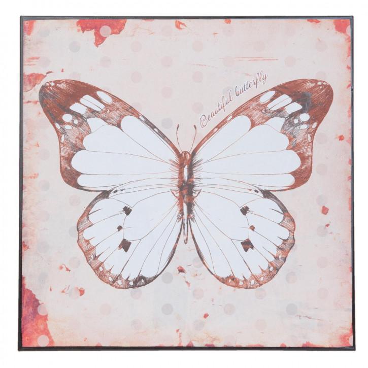 Wandschild Blechschild Schmetteling ca. 30 x 30 cm