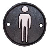 Sign Toilette man R 8 cm