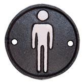 Sign Toilette man Ø 8 cm