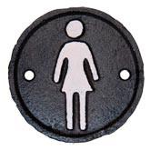 Sign Toilette woman Ø 8 cm