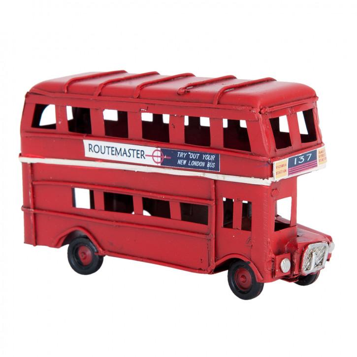 Blechmodel bus 11x4x6 cm