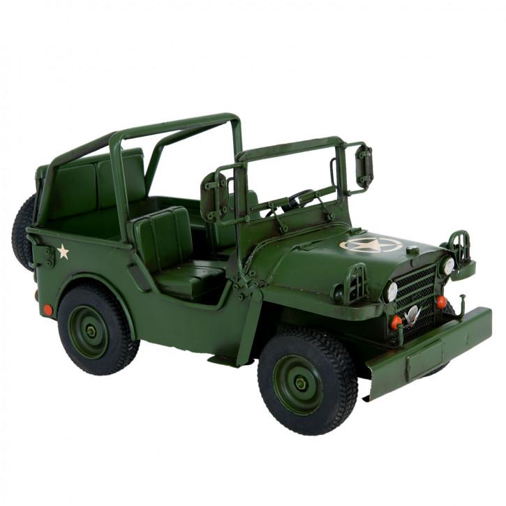 Blechmodel Jeep 32x17x17 cm