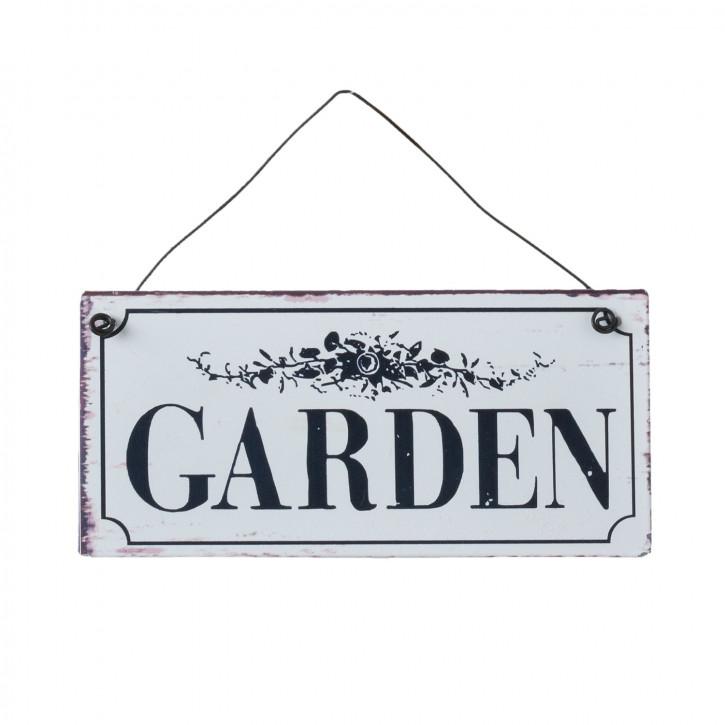 """Textschild """"Garden"""" 15x7 cm"""