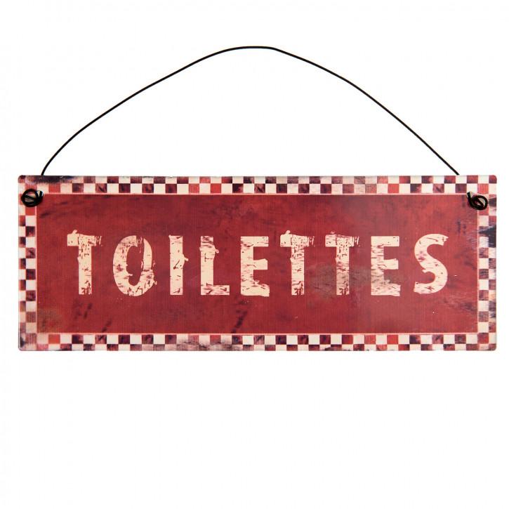 Textschild Toilettes 20x7 cm