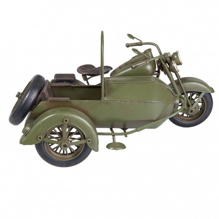 Blechmodel motorcycle with sidecar 18x14x11 cm