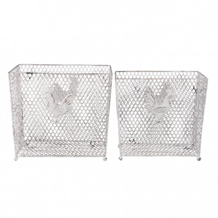 Basket (2) 40x24x36/36x20x24 cm